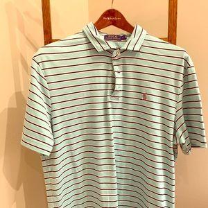 Light Green striped Polo Sport shirt